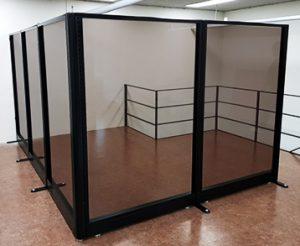 60T 브론즈 강화유리 H1500 올 유리파티션